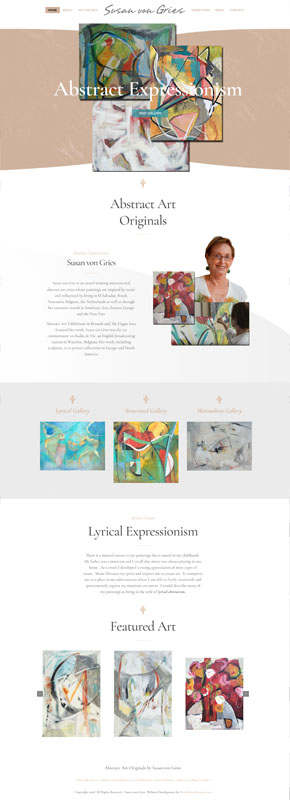 Web Design Website Development for Susan von Gries