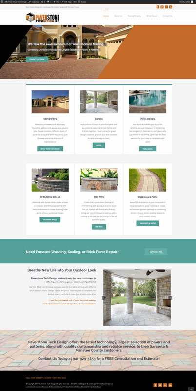website development for Paverstone Tech Design