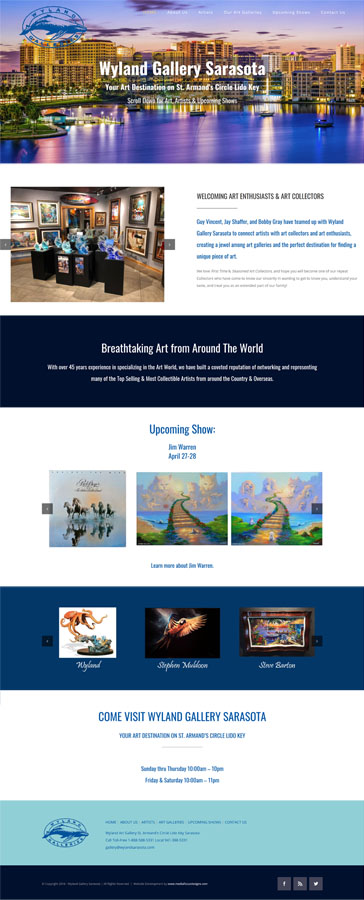 Web Design for Wyland Gallery Sarasota