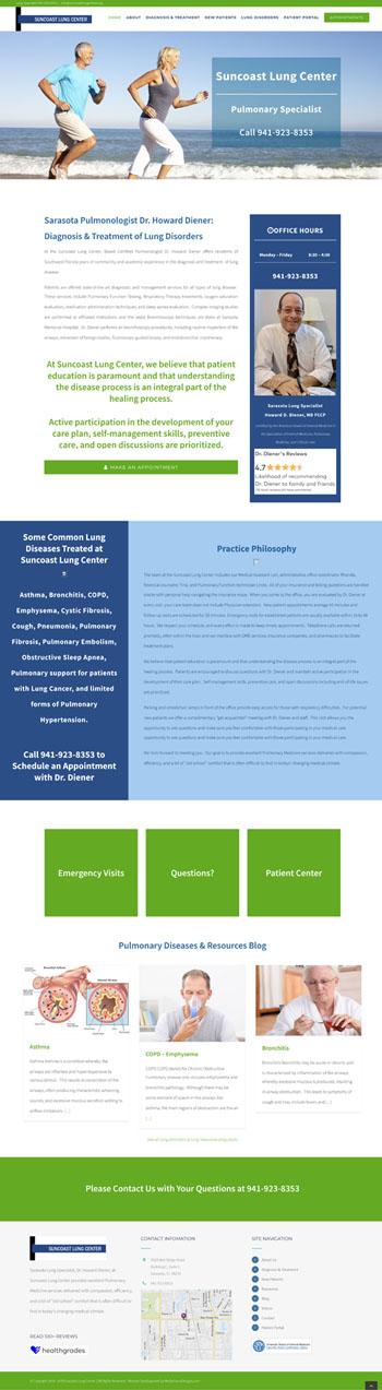 Website Development Sarasota Suncoast Lung Center